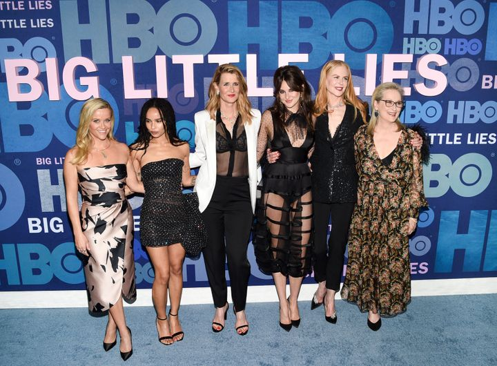 "Woodley and the cast of ""Big Little Lies"" at the Season 2 premiere."