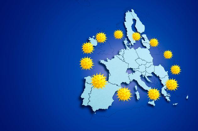 Coronavirus pandemic spreading in the European Union