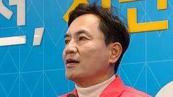 김진태가 선거 사무원의 '세월호 현수막 훼손'에 밝힌