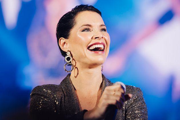 La cantante Soraya, durante un