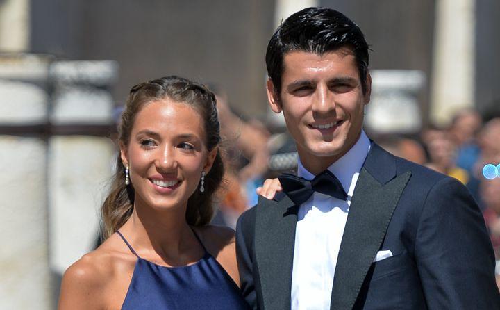 Álvaro Morata y su mujer Alice Campello.