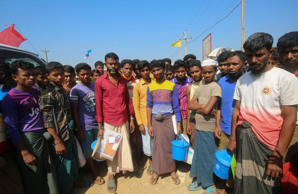 Rohingya refugees at the Kutupalong refugee camp, Cox's Bazar, Bangladesh. Aid workers are bracing for a possible outbr