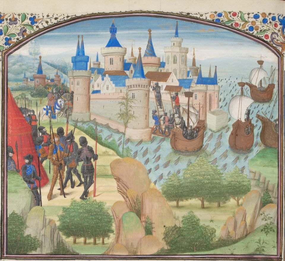 Miniature from the Historia by William of Tyre, Found in the collection of the Bibliothèque de...