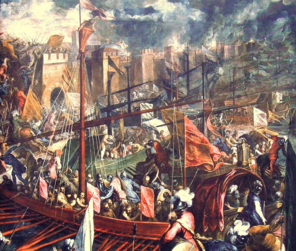 Η άλωση της Κωνσταντινούπουλης έργο του Palma il