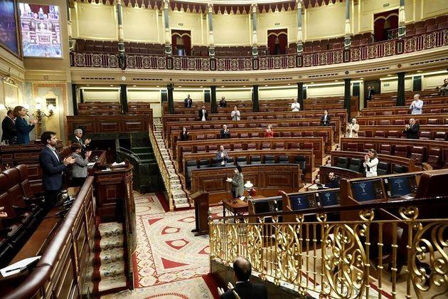 Pleno del Congreso para prorrogar el estado de alarma el pasado 9 de