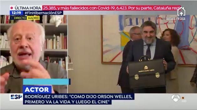 Juan Echanove, en 'Espejo Público' el 13 de abril de
