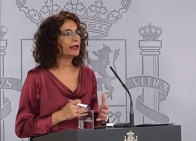 María Jesús Montero, ministra de Hacienda y portavoz del