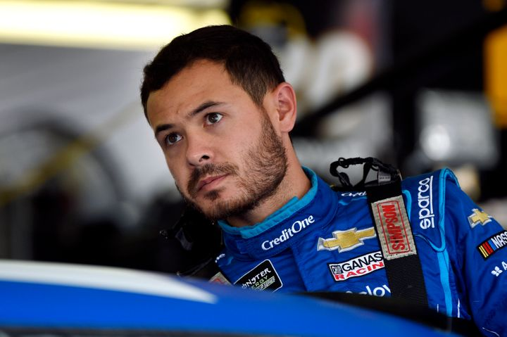 NASCAR driver Kyle Larson appeared to be having difficulty communicating with other drivers during an iRacing event Sunday ni