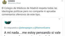 El Colegio de Médicos de Madrid condena los comentarios de un doctor en