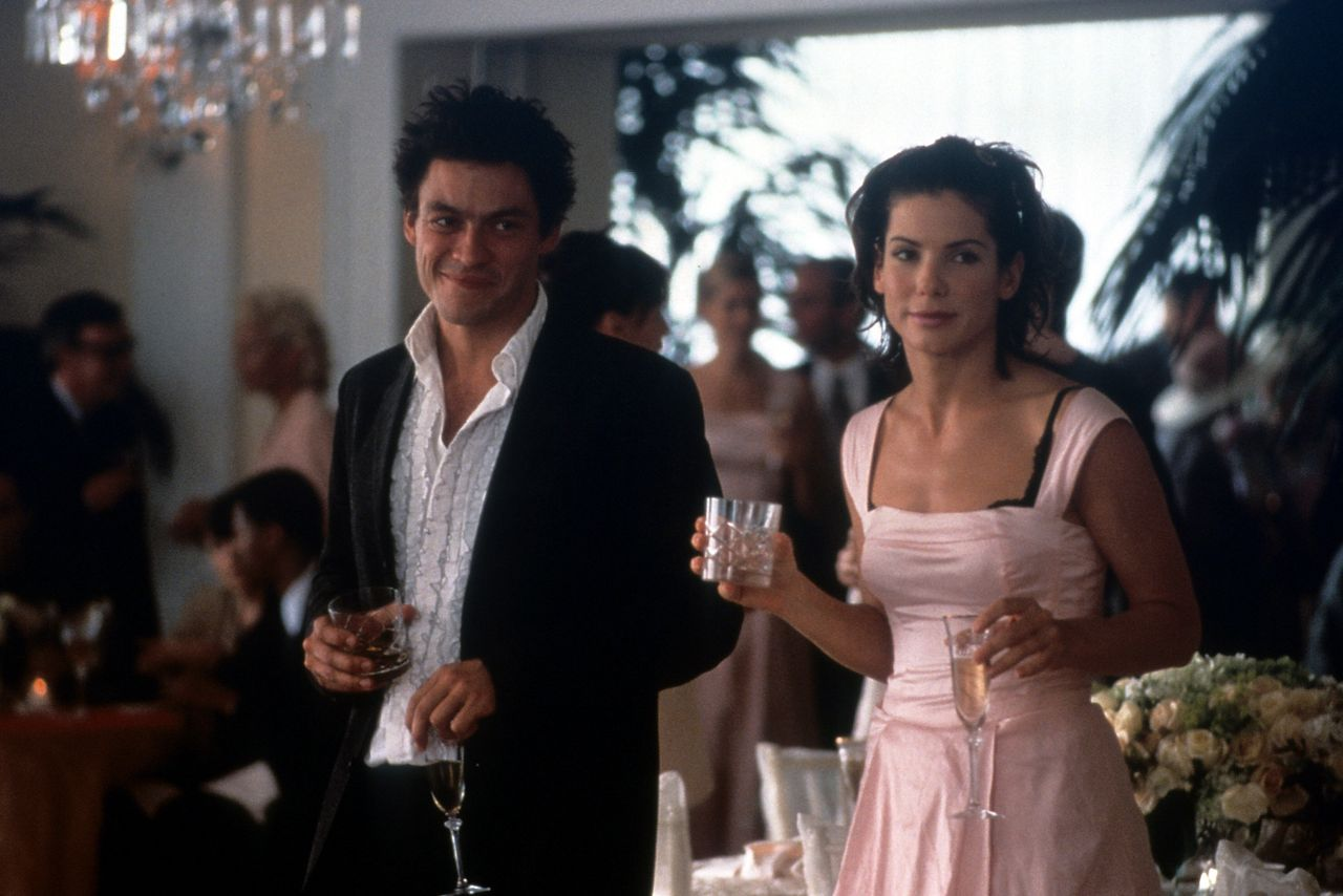 "Dominic West and Sandra Bullock in ""28 Days."""