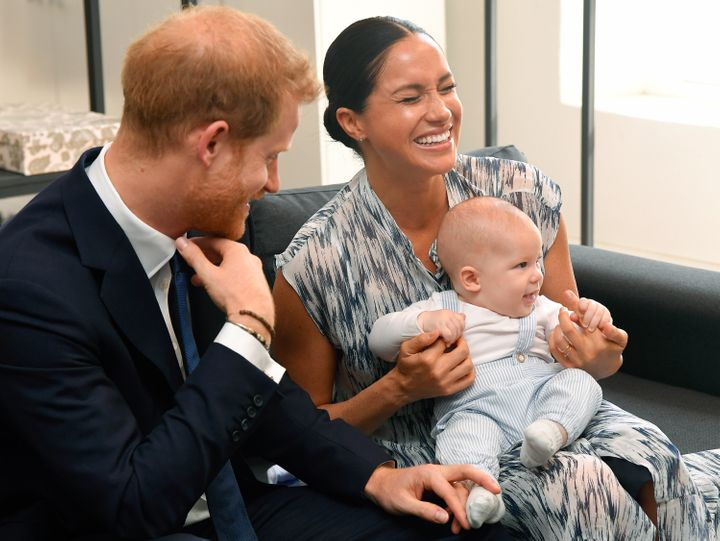 The Duke and Duchess of Sussex and their son, Archie Mountbatten-Windsor, in Cape Town on Sept. 25, 2019.