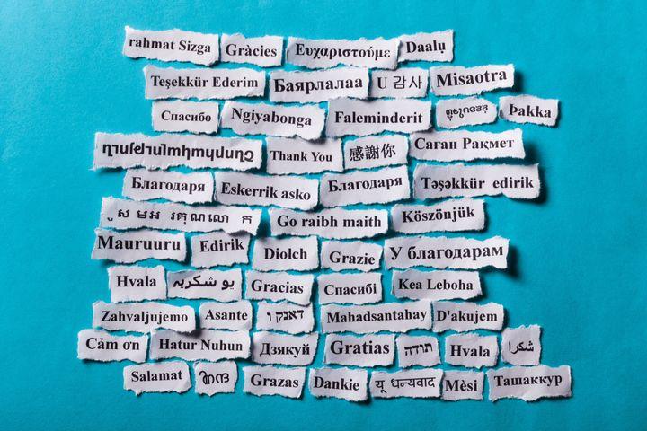 'Gracias' en distintos idiomas.
