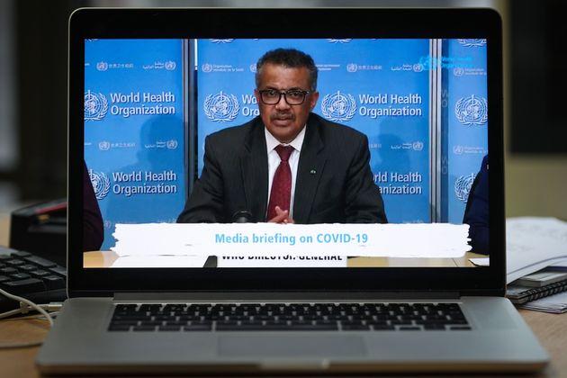 El director de la OMS, Tedros Adhanom Ghebreyesus, en una conferencia de prensa el pasado 16 de