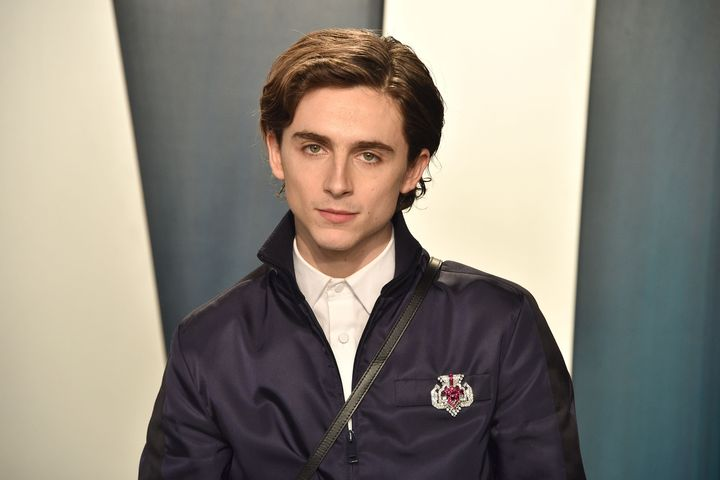 Timothee Chalamet attends the 2020 Vanity Fair Oscars Party.