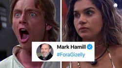 Gizelly não está com a Força; até Luke Skywalker quer vê-la fora do