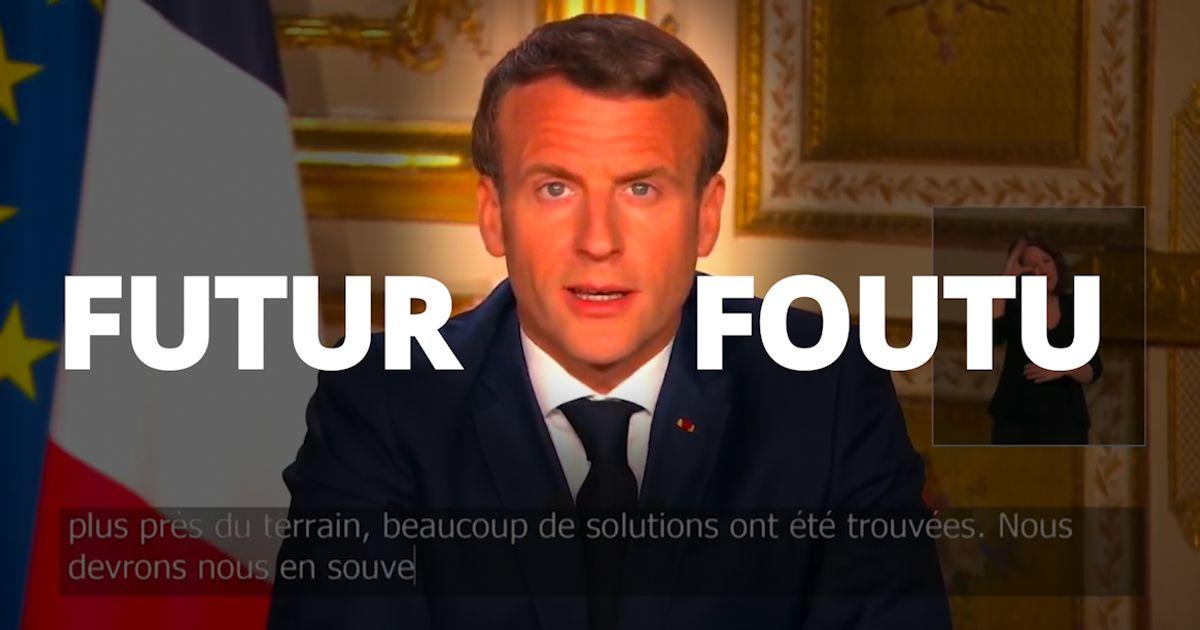 Discours De Macron L Erreur De Sous Titre Qui Resume Cruellement La Situation Le Huffpost