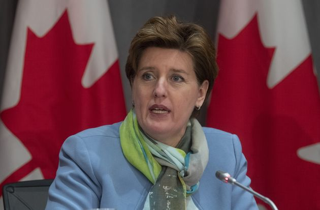 Minister of Agriculture and Agri-Food Minister Marie-Claude Bibeau speaks during a news conference on...