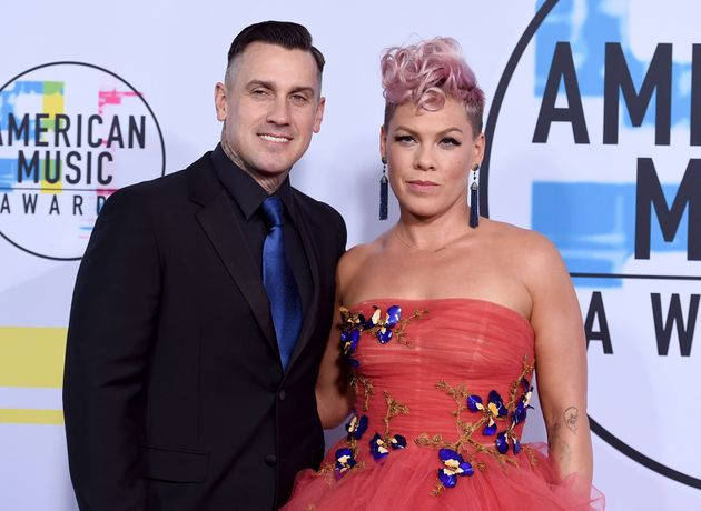 Carey Hart and Pink at the American Music Awards in