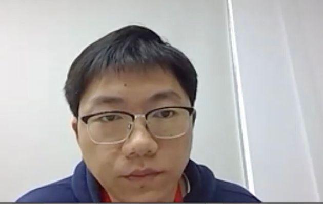 匠新コーポレートイノベーション事業部・厳開マネージャー(Zoomの取材画面)