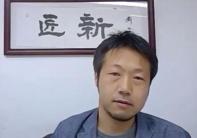 匠新・田中年一CEO(Zoomの取材画面)