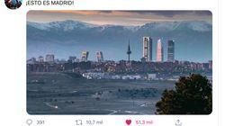 La verdad sobre la impresionante foto del 'skyline' de Madrid sin contaminación que no para de circular en redes