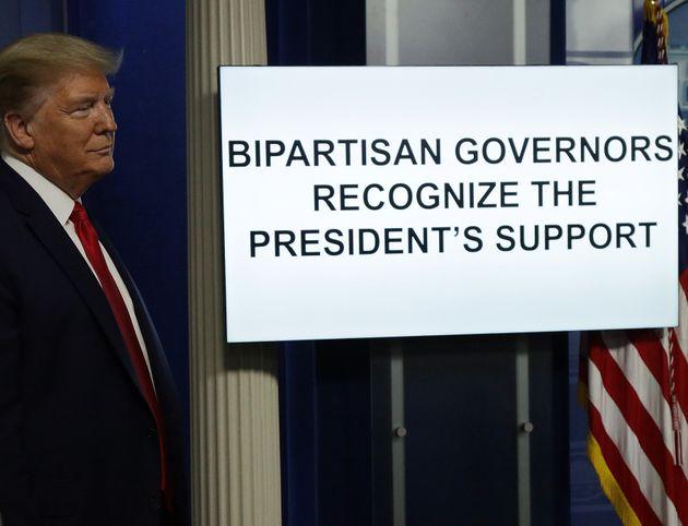 '공화당과 민주당의 주지사들이 대통령의 지원을
