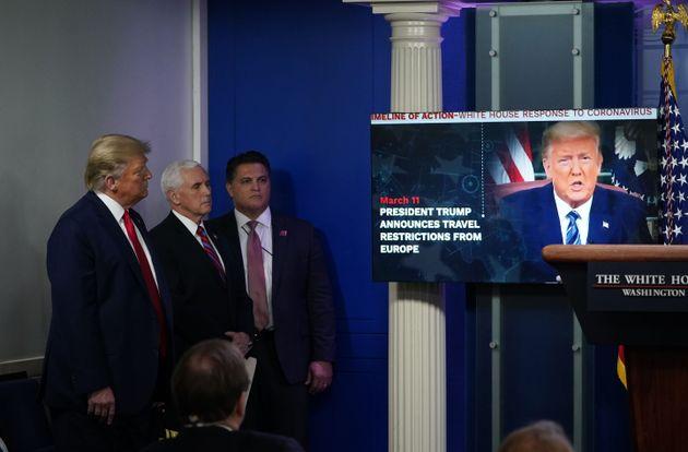 '3월11일 - 트럼프 대통령이 유럽발 입국 제한을