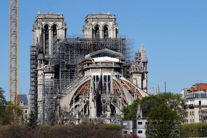 Vista de la Catedral de Notre Dame actualmente.