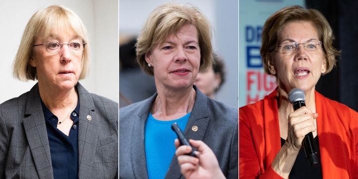 Democratic Sens. Patty Murray (Wash.), Tammy Baldwin (Wis.) and Elizabeth Warren (Mass.).