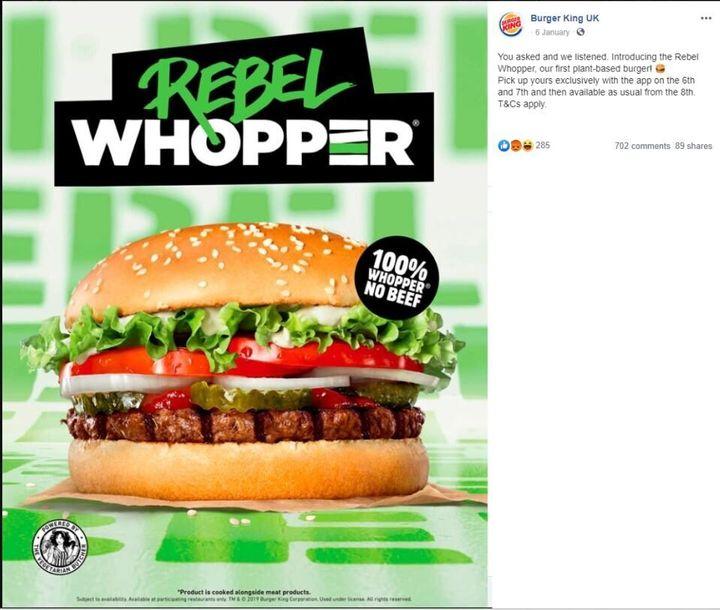 Rebel Whopper advert banned