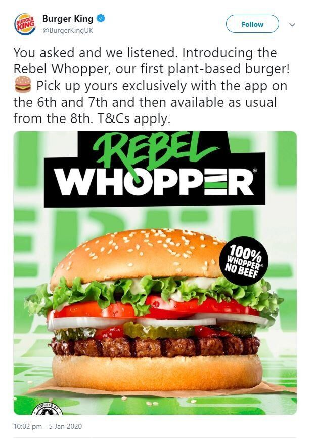 An advert by Burger King that was banned