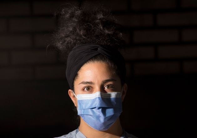 Registered nurse Niloofar Akhavan is photographed at St. Paul's hospital in downtown Vancouver on April...