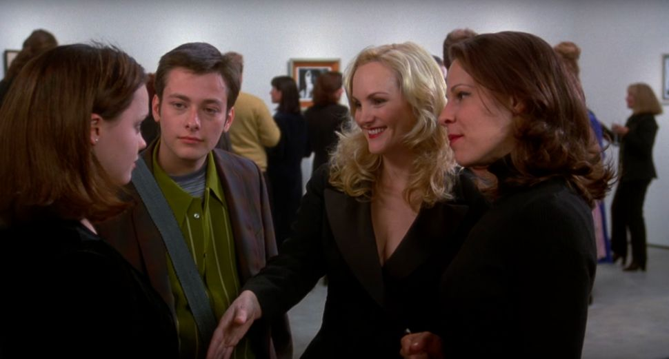 "Christina Ricci, Edward Furlong, Patty Hearst and Lili Taylor in ""Pecker."""