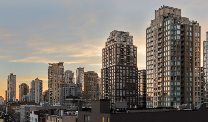 In this undated stock photo, condo and apartment buildings are seen in Vancouver's Yaletown neighbourhood.