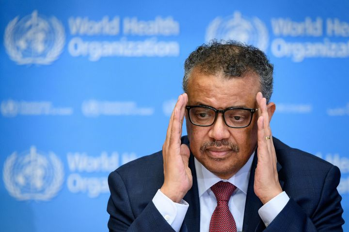 World Health Organization Director-General Tedros Adhanom Ghebreyesus on March 6, 2020 in Geneva.