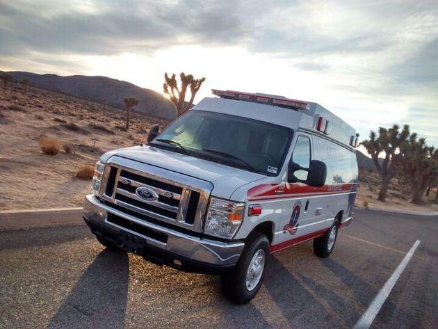 ヒラードさんがアリゾナ州で使用している救急車
