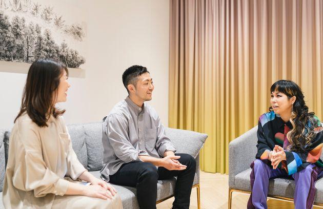 左から、ユニリーバ・ジャパンの緒明彩さん、株式会社10X代表取締役CEOの矢本真丈さん、歌手のAIさん。