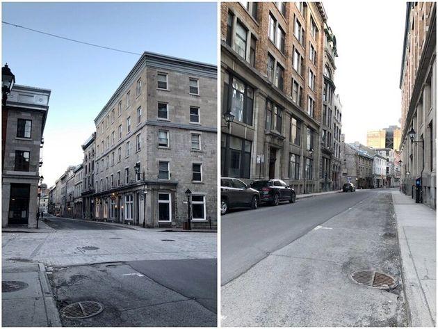 現在のモントリオールの旧市街の様子