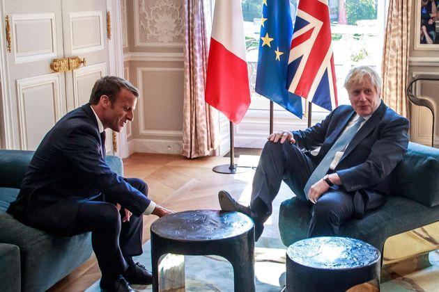 Macron y Johnson, durante una reunión en agosto de
