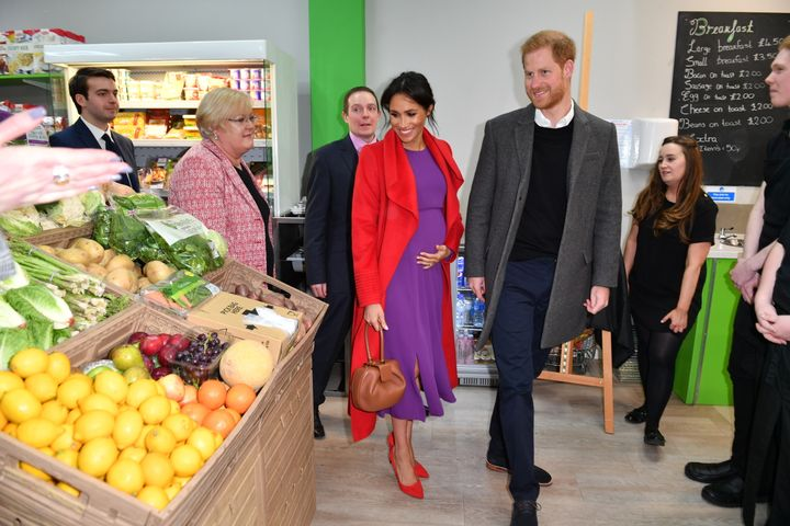 Harry and Meghan officially open 'Number 7', a 'Feeding Birkenhead' citizen's supermarket and community café, on