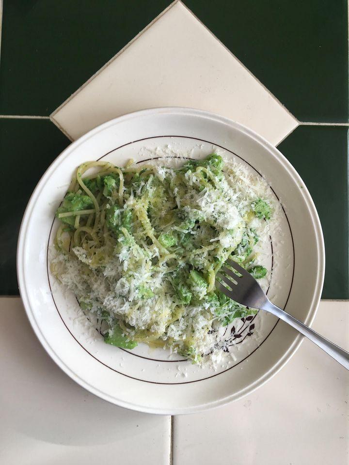 Pasta with Broccoli Smush