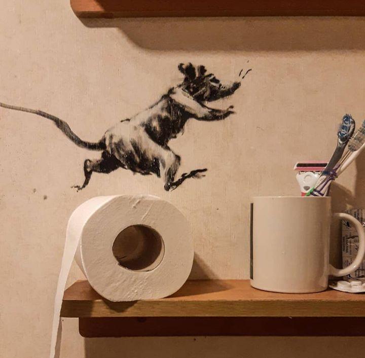 Bansky's toilet.