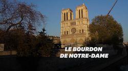 Le bourdon de Notre-Dame a résonné à 20h, un an après