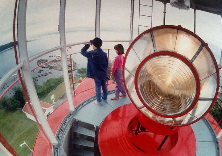 Etzkorn and her brother keeping watch from the lighthouse as kids.