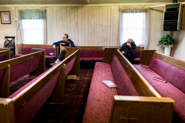 A church in Sacramento held a Palm Sunday service on April 5, despite California Gov. Gavin Newsom's stay-at-home order.