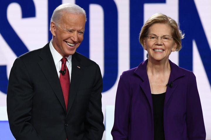 Sen. Elizabeth Warren (D-Mass.) and former Vice President Joe Biden appeared in many debates against each other during the De