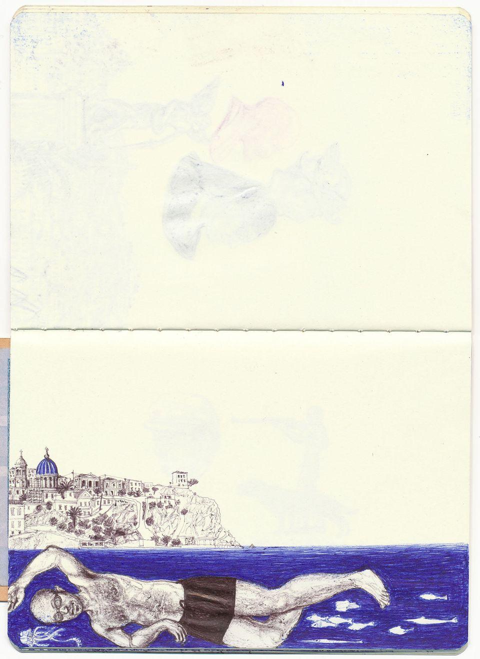 Ερμούπολη_12,5x8,7cm_σχέδιο με στυλό σε