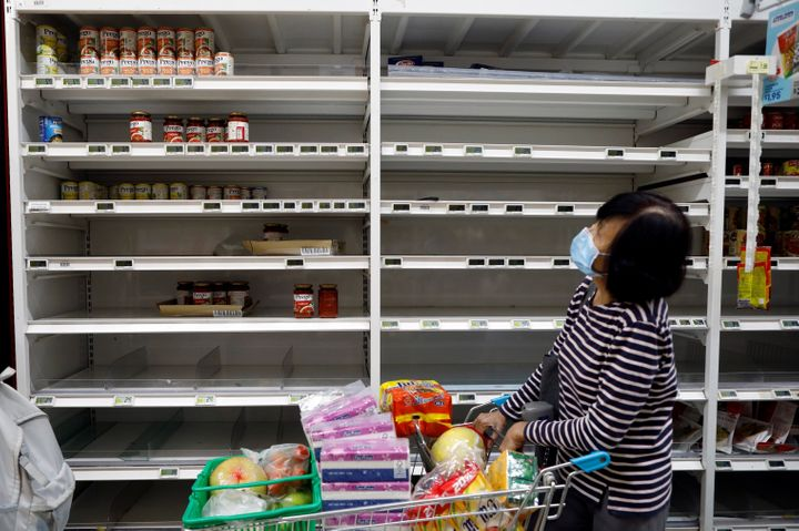 Panic buying caused the emptying of Singapore's supermarket shelves, but assurances by officials have helped ease some of the
