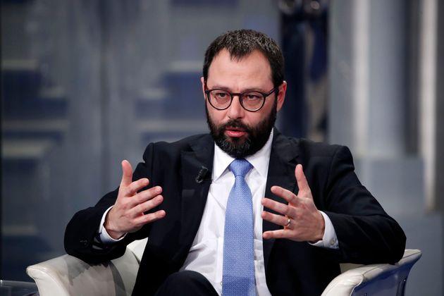 ROME, ITALY - JANUARY 08: Italian Minister of Economic Development, Stefano Patuanelli, during tv broadcast...