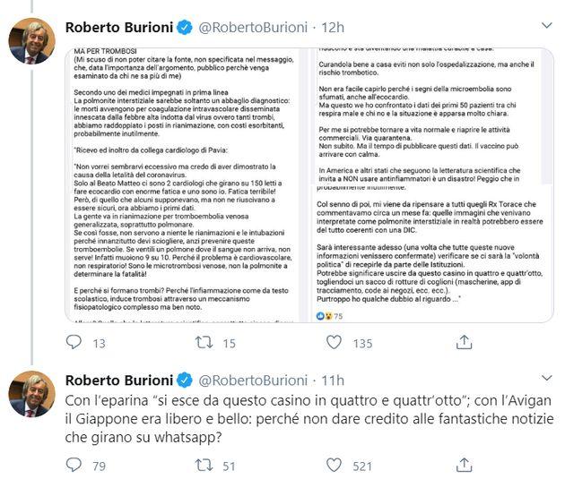 Dal profilo Twitter di Roberto